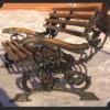 Кованая скамейка №5