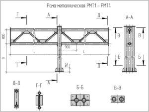 Металлические рамы для дорожного строительства